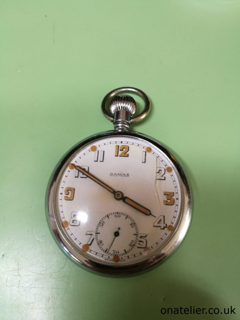 Damas GSTP Military Pocket Watch Service