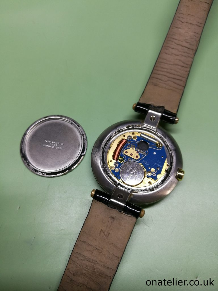 Rado Jubile Battery Replacement, worn gasket