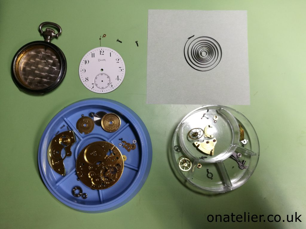 Pocket Watch Clean Movement Parts