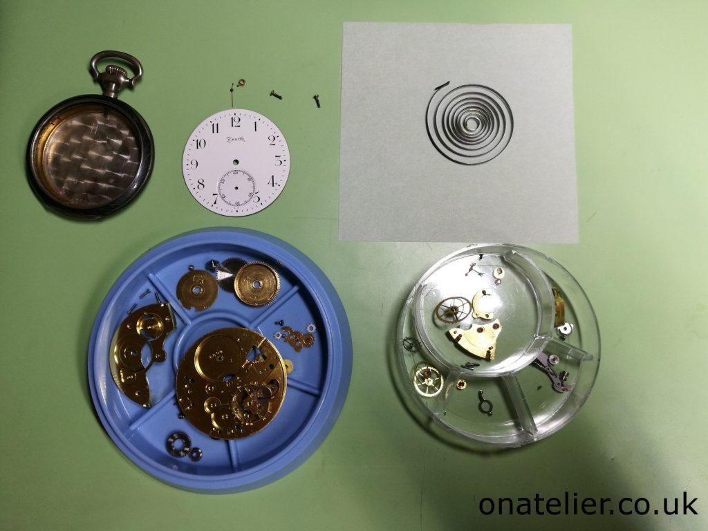 Pocket Watch Clean Movement Parts