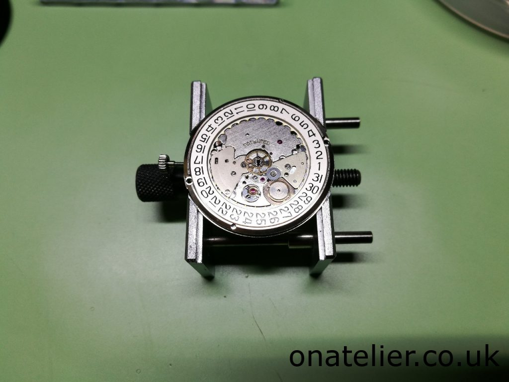 Calibre 1457U re-assembled dial up