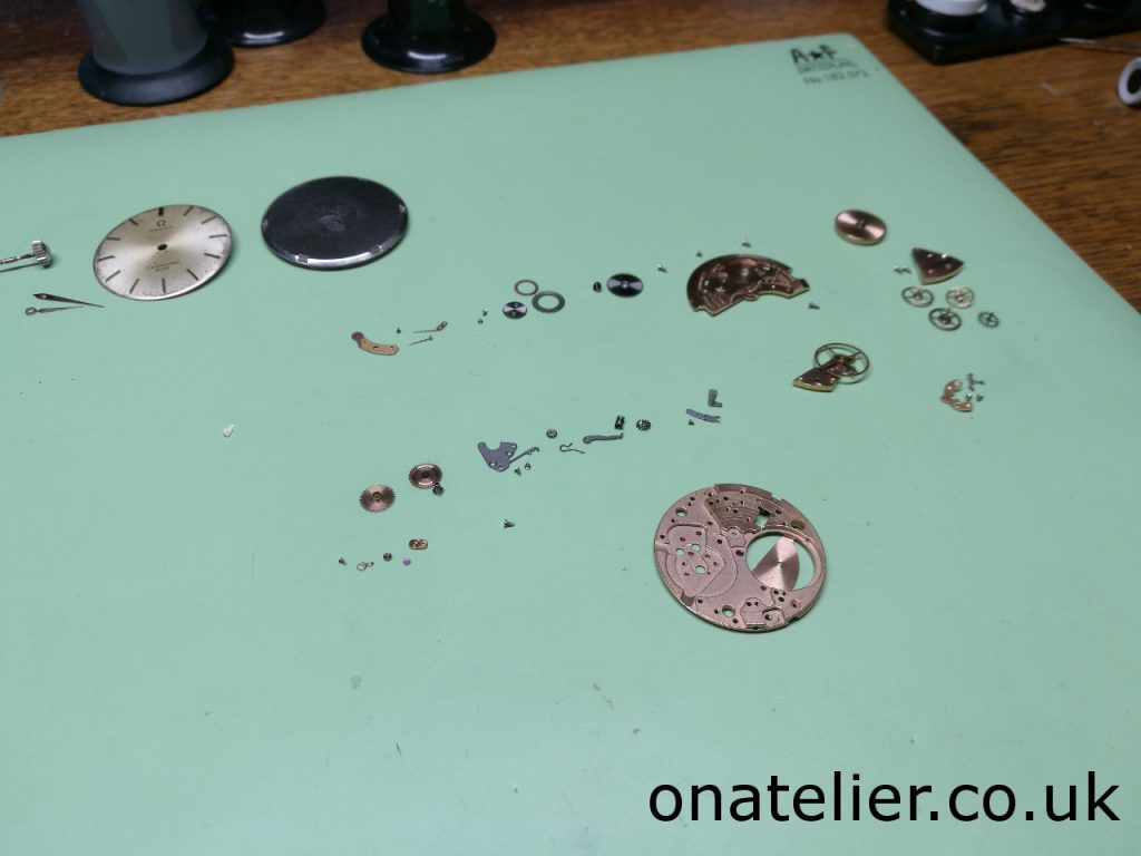 Omega Calibre 601 stripped down