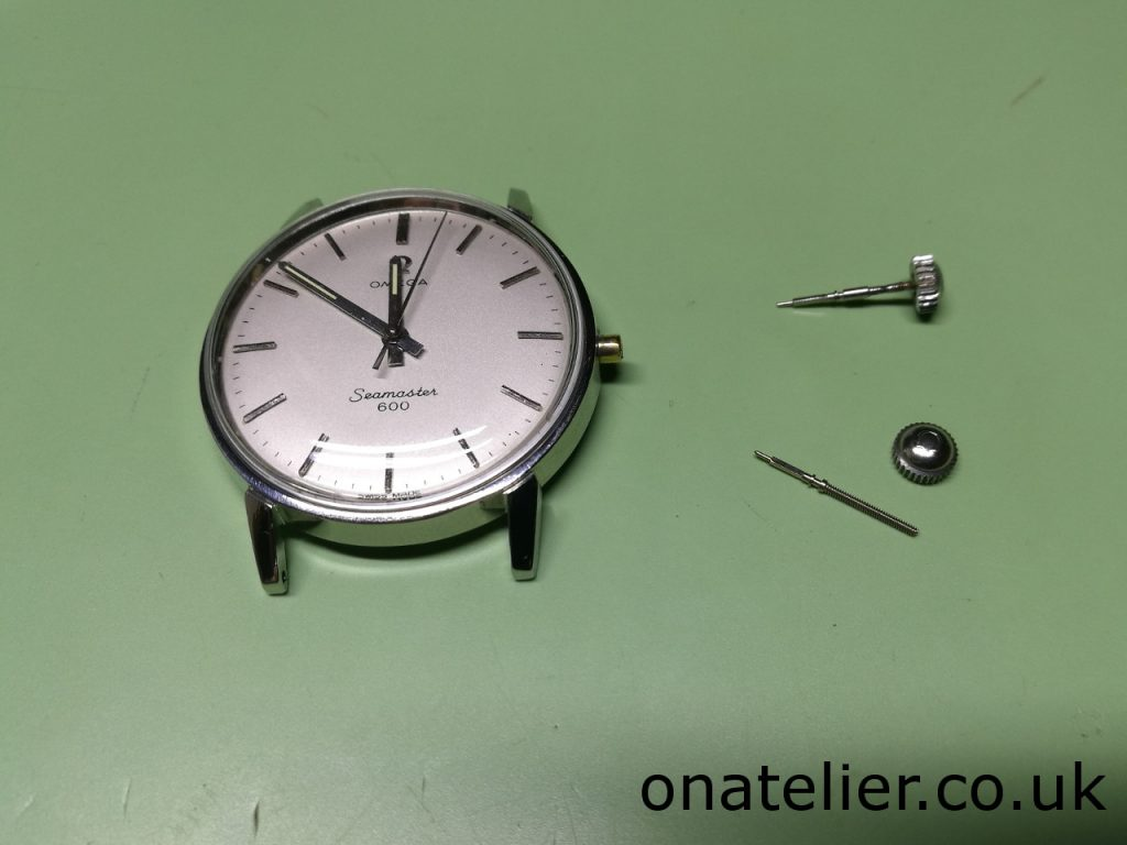 Omega Seamaster Crown and Stem Replacement