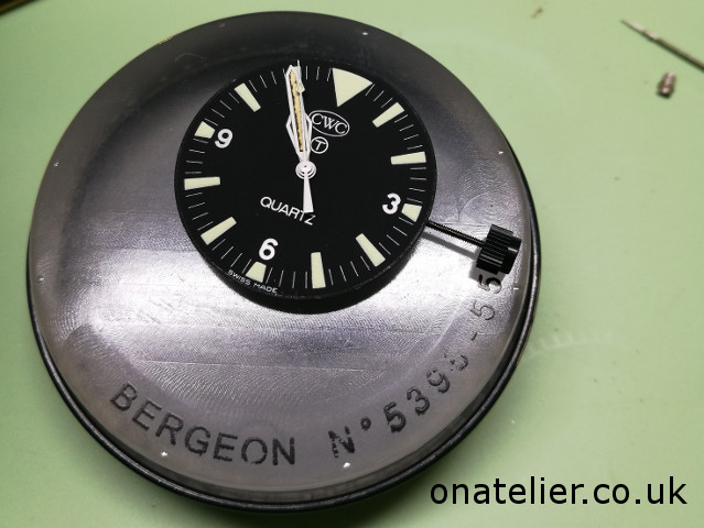 CWC Divers watch dial
